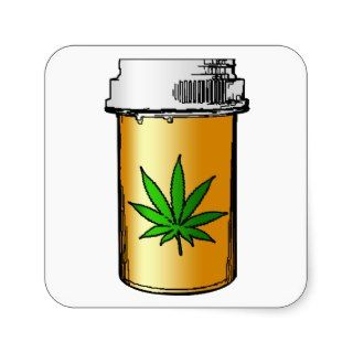 medical greens pill bottle sticker