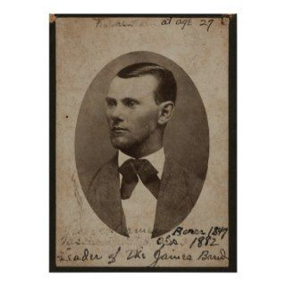 Jesse James, 1875, Nebraska City, Nebraska. Posters
