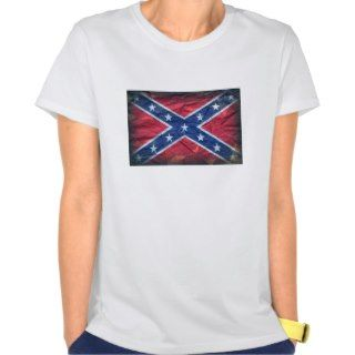 Grunge Dirty Redneck Confederate Flag Tee Shirt