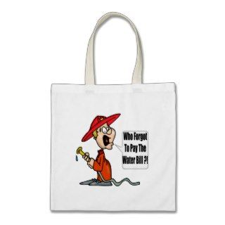 Funny Firefighter Tote Bag