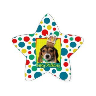 Birthday Cupcake   Beagle Puppy   Chloe Sticker