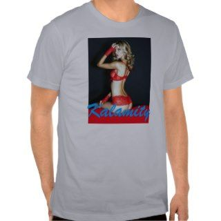 Kalamity Blonde in Lingerie Mens Shirt