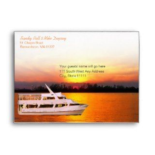 Ocean Sunset Yacht A7 Invitation Envelope