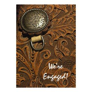 Western Saddle Country Engagement Party Invitation