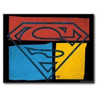 Superman Logo with Colors Post Cards