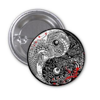 Cool blood splatter Yin Yang Dragons tattoo art Pins