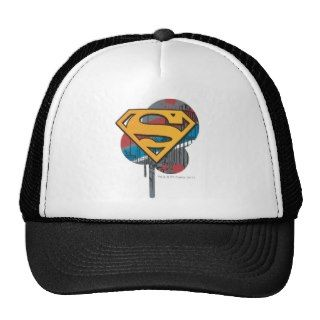 Superman Logo with paint Trucker Hats
