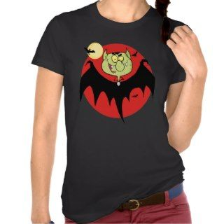 cute funny cartoon vampire bat character t shirts