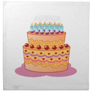 Birthday cake clipart napkin