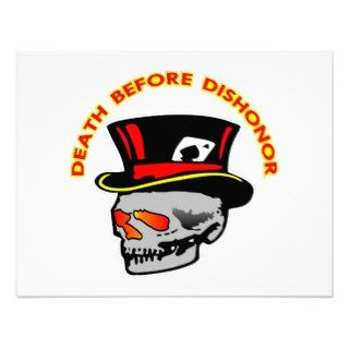 Death Before Dishonor Skull & Tophat Custom Invite