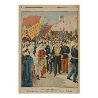 Opening of the Saida railway in Algeria Print