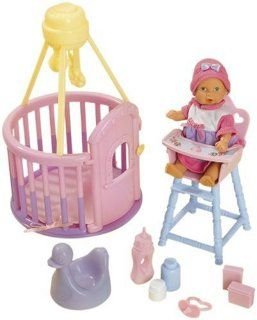 Simba 10 503 0375   Mini New Born Baby, Spielcenter Set, inklusive