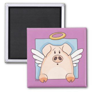Cute Cartoon Angel Pig Magnet