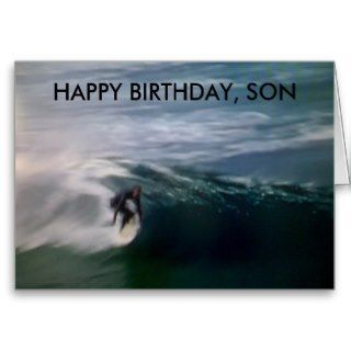 HAPPY BIRTHDAY, SON GREETING CARD