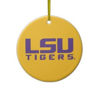 Purple LSU Tigers Logo Ornament