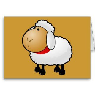 54 Free Cartoon Sheep Clipart Illustration Cards