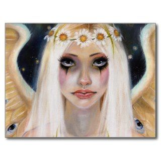 Spirited Away   Blonde Angel with a daisy crown Post Card