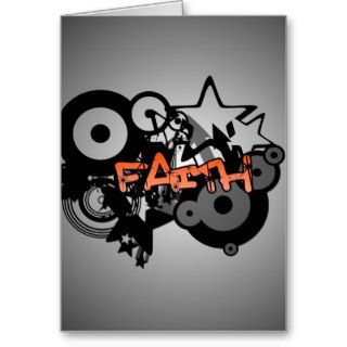 FAITH Graffiti Art Greeting Card