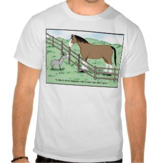 Donkey and Clydesdale T Shirts