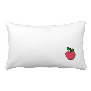 Patchy Red Apple Clipart Pillow