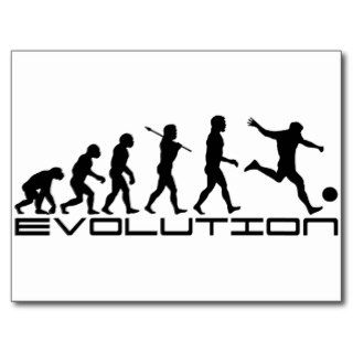 Soccer Evolution ~ Football / Futbol Postcard
