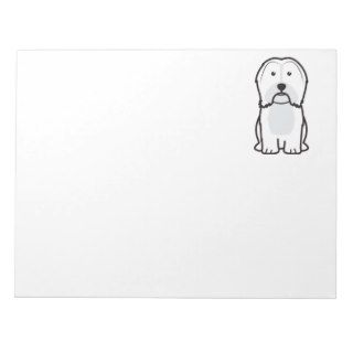 Havanese Dog Cartoon Notepad
