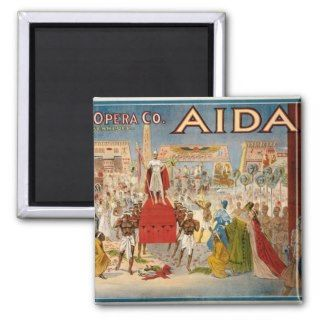 Aida at the Hippodrome 1908 Magnets