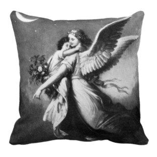 Guardian Angel At Night Throw Pillow