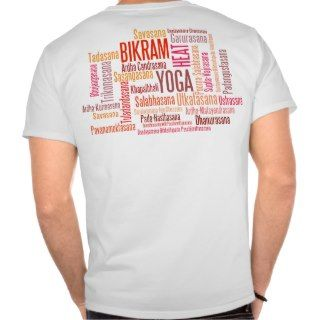 Feel The Heat Bikram Cinnebar Red Yoga Positions T Shirts
