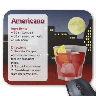 Americano Recipe Card Mousepad