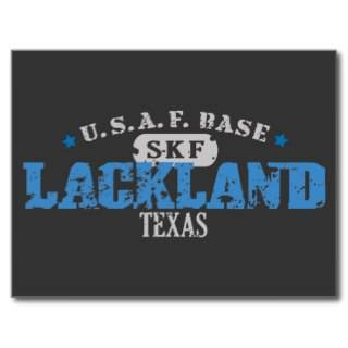 Air Force Base   Lackland, Texas Post Cards