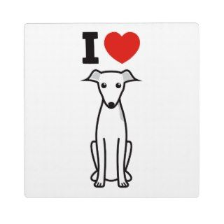Italian Greyhound Dog Cartoon Photo Plaques