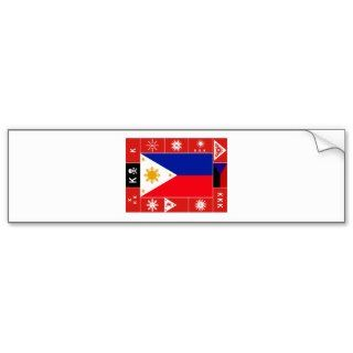 Philippine Flags Bumper Sticker