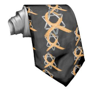 Orange Leukemia Survivor Ribbon Custom Ties