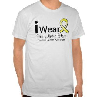 Customizable I Wear Bladder Cancer Ribbon T shirts