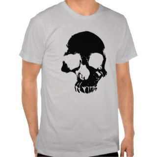 Scary skull cool gothic gray mens t shirt