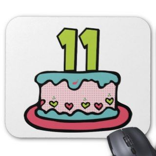 11 Year Old Birthday Cake Mouse Pad