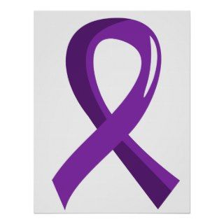 Lupus Purple Ribbon 3 Poster