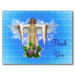 Guardian Angel Thank You Postcard