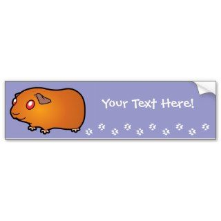 Cartoon Guinea Pig (red with red eyes) Bumper Stickers