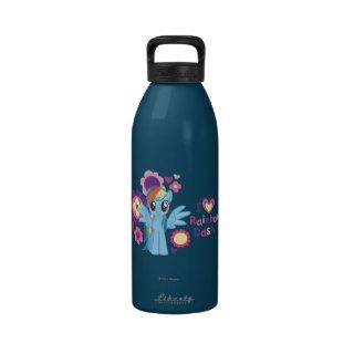 Heart Rainbow Dash Reusable Water Bottles
