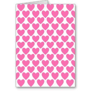 Simple Pretty Pink Polka Heart Wallpaper Pattern Greeting Card