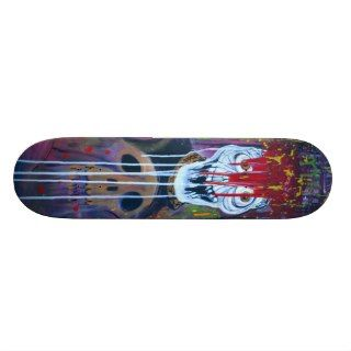 Virus Bloody Skull Skateboard