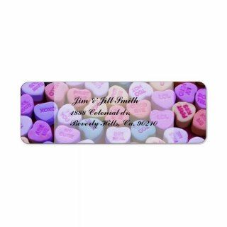 Candy Heart Messages Set Custom Return Address Label