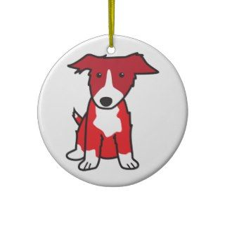 Border Collie Dog Cartoon Christmas Tree Ornaments