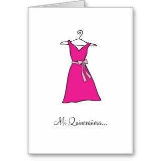 Pink Dress, Quinceañera Dama Card