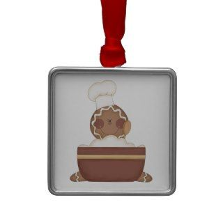 baking gingerbread man christmas tree ornament