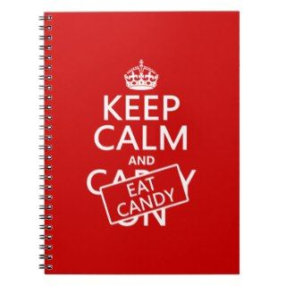 Keep Calm and Eat Candy (customize colors) Journal