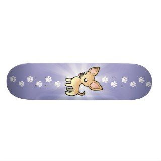 Cartoon Chihuahua (smooth coat) Skate Board Deck