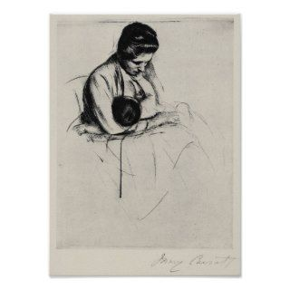 Mother nurses child by Mary Stevenson Cassatt Posters